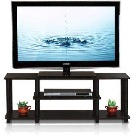 Furinno Turn-N-Tube No Tools 3D 3-Tier Entertainment TV Stand, Multiple Colors, Black