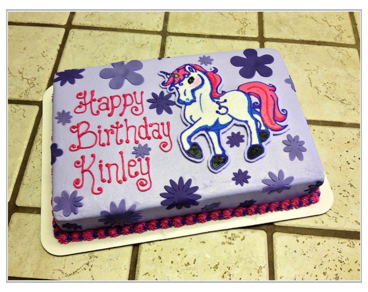 Unicorn Sheet Cake Rainbow Birthday Party 9th
