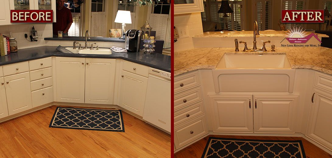 Kitchen Cabinet Refacing Before And After From New Look Refacing Amusing How Much Does It Cost To Replace Kitchen Cabinets Decorating Inspiration