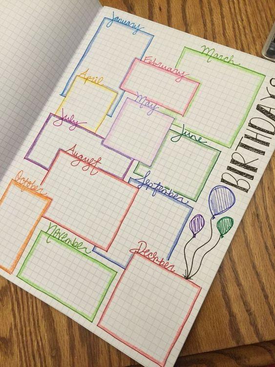 Bullet Journal Ideas 2020 Goals | 2020 Calendar Printable Template