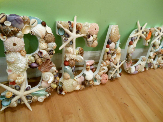 Hey, I found this really awesome Etsy listing at http://www.etsy.com/listing/112442818/beach-decor-beach-shell-letters-seashell