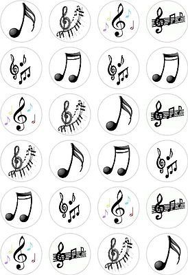 Details about 24 Music Notes Cupcake Fairy Cake Toppers Edible Rice Wafer Paper Decorations #musicnotes