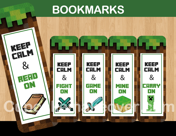 photograph about Minecraft Bookmarks Printable identified as A Good fastened of printable bookmarks encourage your little ones toward