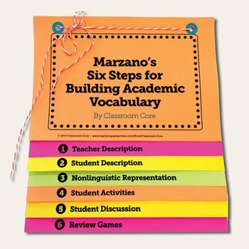 Free vocabulary flip book for marzano   six steps keep this handy when planning instruction  few ideas implementation are listed also rh pinterest