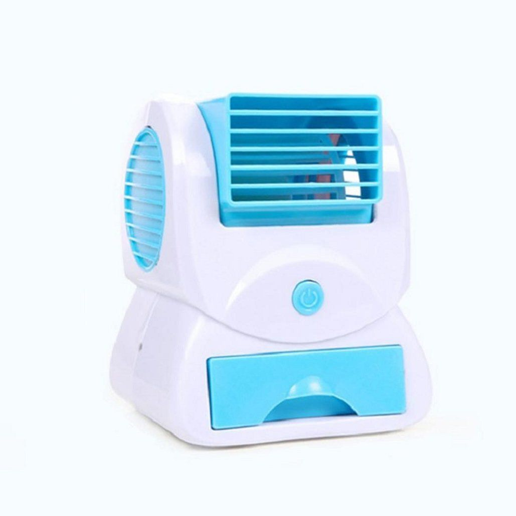 2db7a1df7 Mini Small Fan Cooling Portable Desktop Dual Bladeless Air Conditioner USB