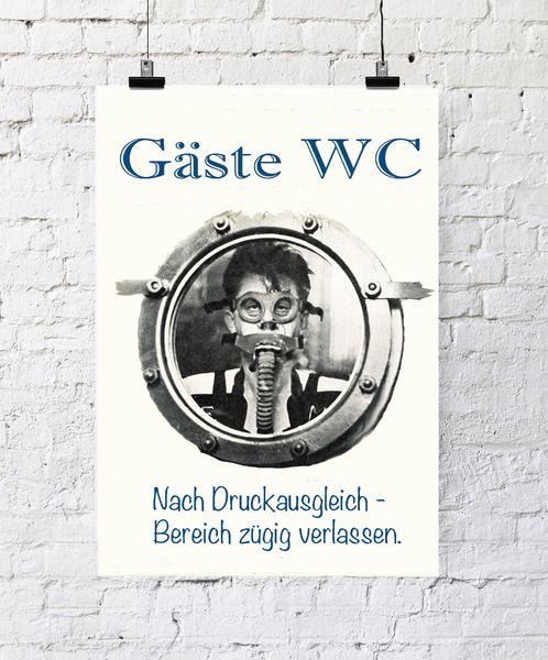 Kunstdruck Poster Gäste WC von PapierMond auf DaWanda.com