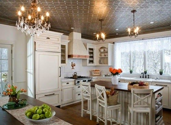 the ceiling and #cabinetry in this #Cottage Style #Kitchen ... on kitchen ideas red cabinets, kitchen ideas green cabinets, kitchen ideas clear cabinets, kitchen ideas gray cabinets, kitchen ideas black cabinets, kitchen ideas with turquoise, kitchen ideas brown cabinets,