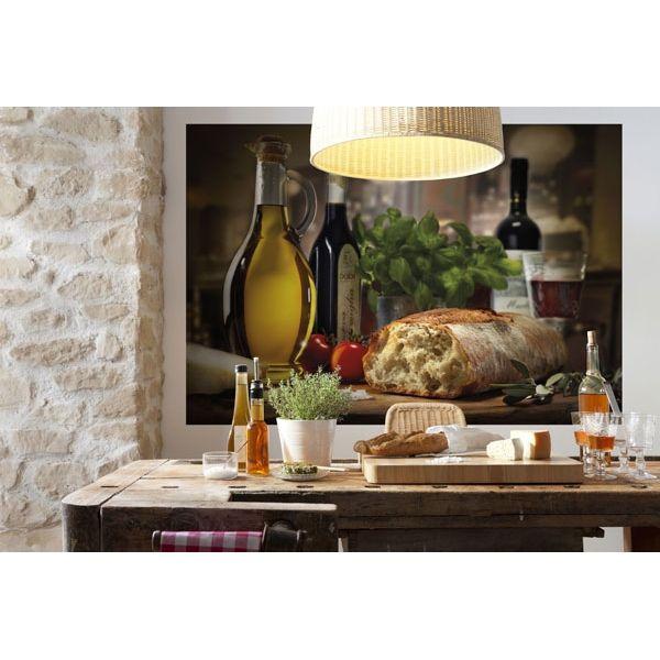 mural pan y aceite decoran la cocina | Fotomural, Decorar ...