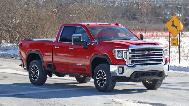 2020 Gmc Sierra Hd Spied In Double Cab Gas Powered Form Gmc