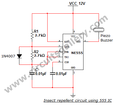 electronic mosquito insect repellent circuit using 555 icElectronic Mosquito Repellent Circuit #7