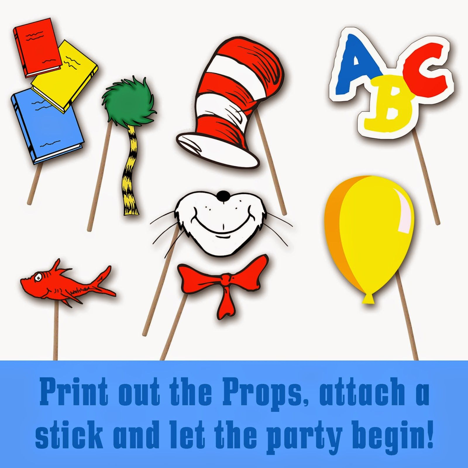 Dr Seuss Photo Booth Printable Props