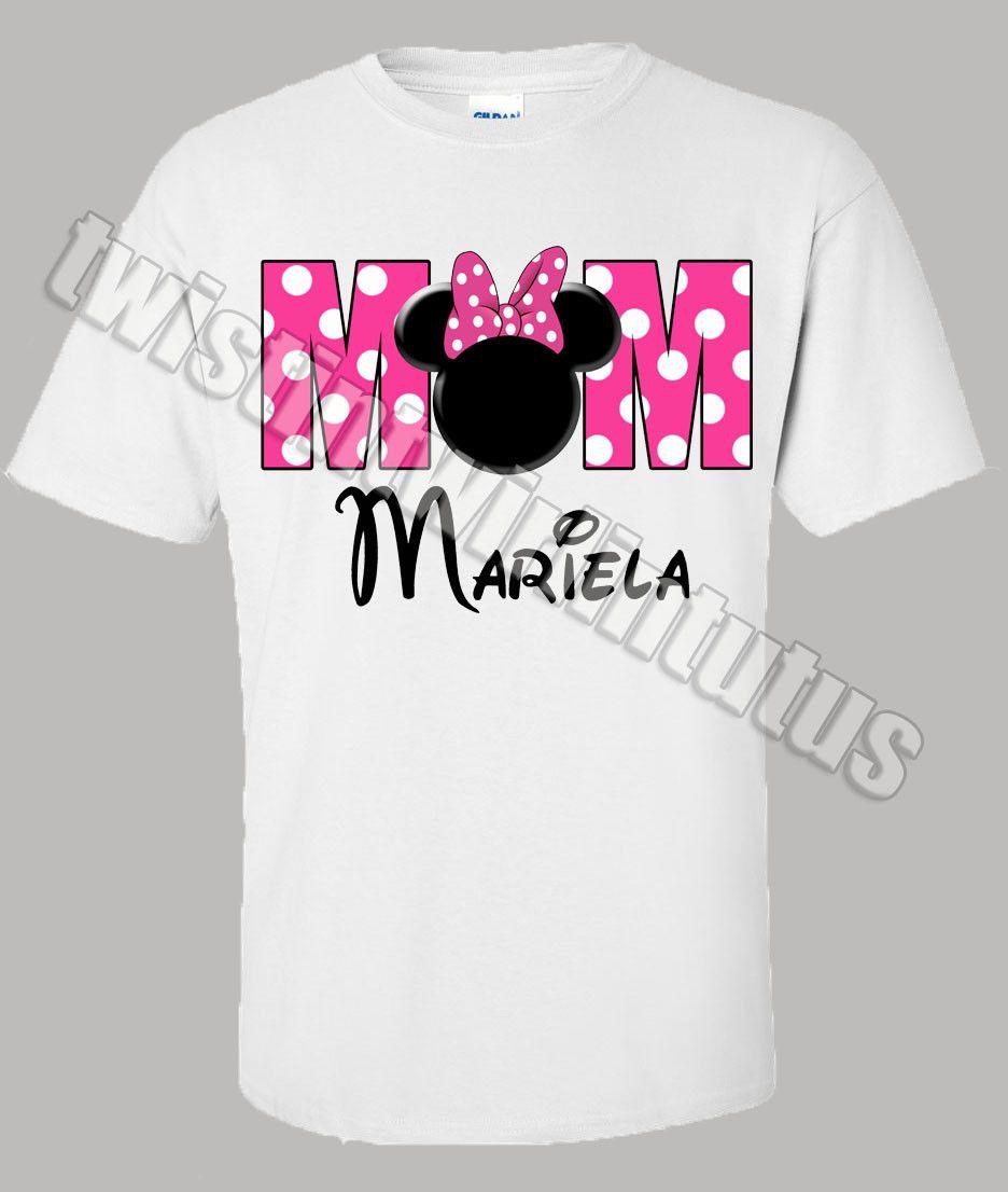 Mom Minnie Mouse Birthday Shirt