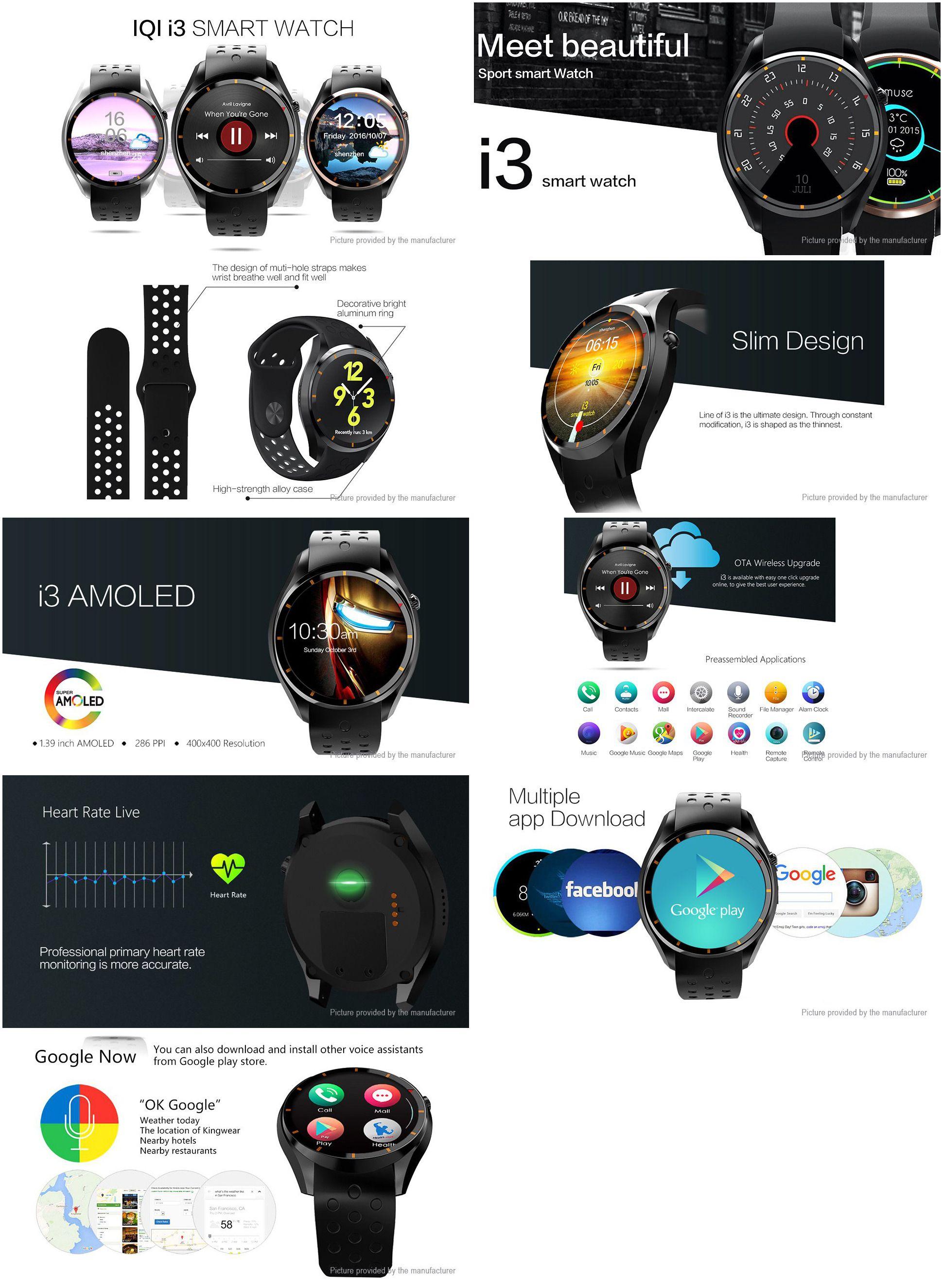 IQI I3 3G Smartwatch Phone Smart watch, Tech gadgets