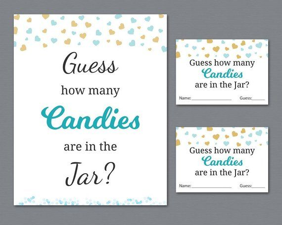 photo relating to Guess How Many in the Jar Printable named Sweet Guessing Sport, Boy Boy or girl Shower Video games Printable, Hearts
