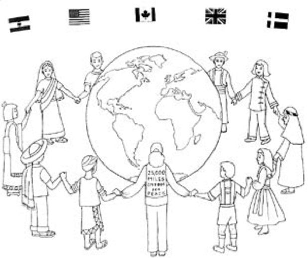 Christmas Around The World Coloring Pages Free