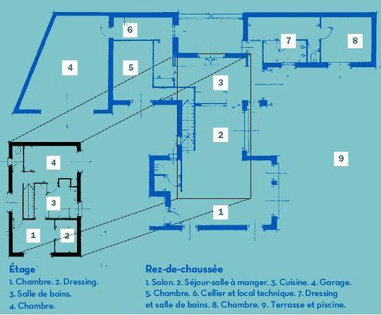 Une maison moderne, pratique et écologique avec piscine House - Plan Maison Moderne  Chambres