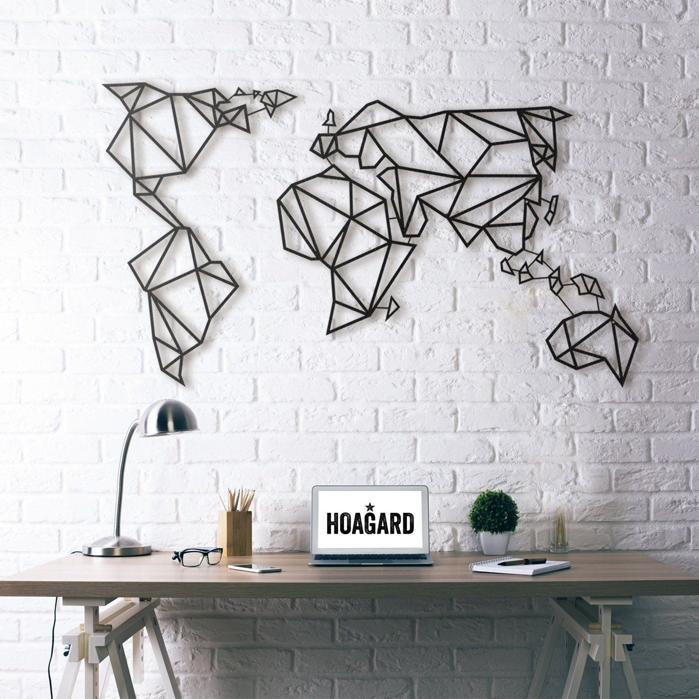 hogard wall art world map the castle pinterest deco murale murale et idee deco. Black Bedroom Furniture Sets. Home Design Ideas