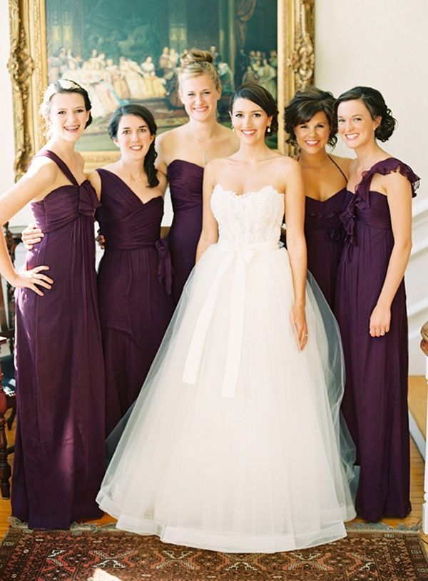 705170168ac5 Aubergine wedding. This is the colour of the girls dresses exactly ...