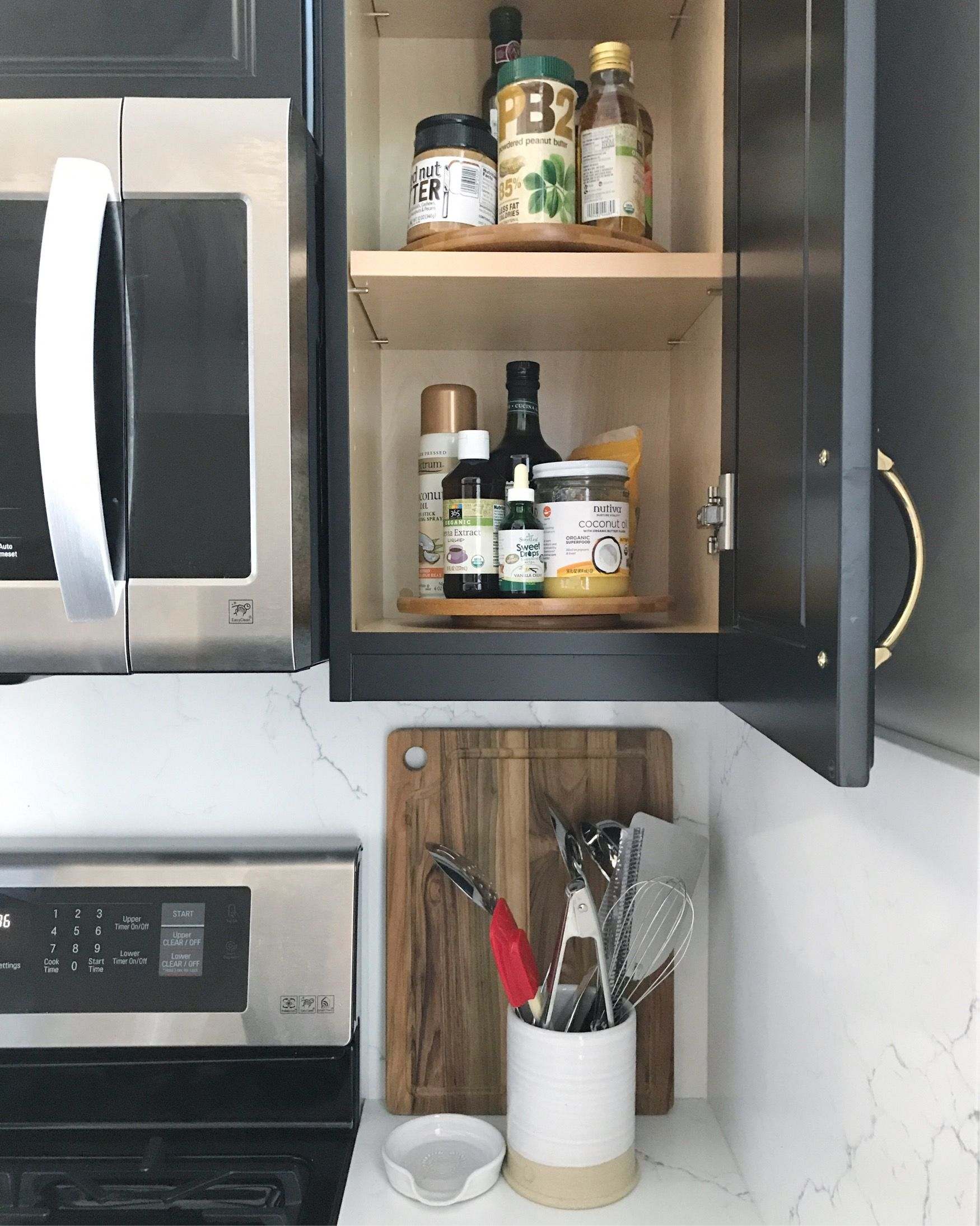 After Whether The Shelf Is Within Or Out Of Reach Turntables Are Always A Good Idea They Make Items Kitchen Cabinet Styles Cabinet Kitchen Organization