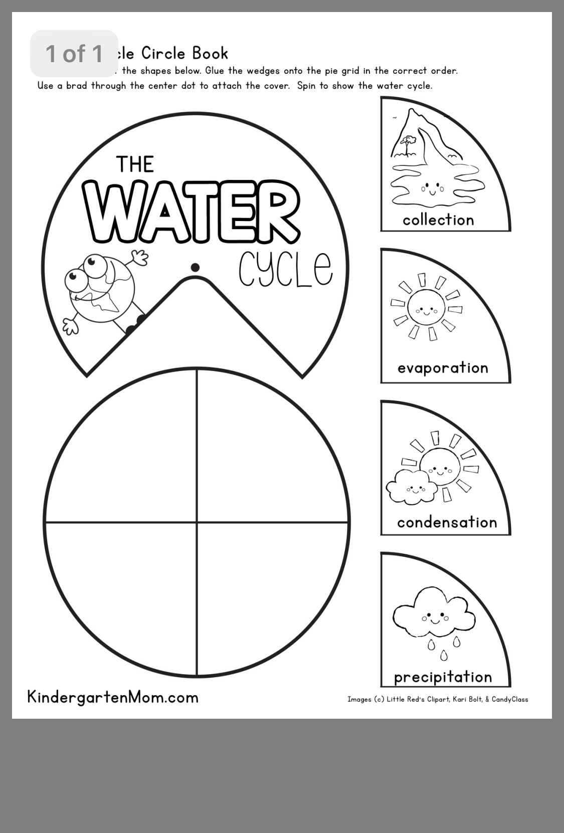 Pin By Michelle Hoffman On Autism Classroom Water Cycle Water Cycle Worksheet Cycle For Kids