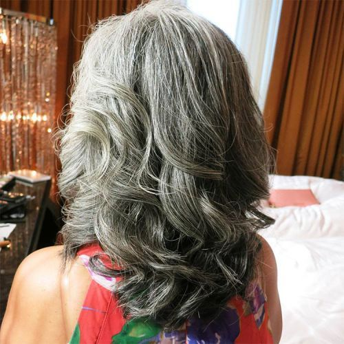 65 Gorgeous Gray Hair Styles Hair Styles Thick Hair Styles Long Hair Styles