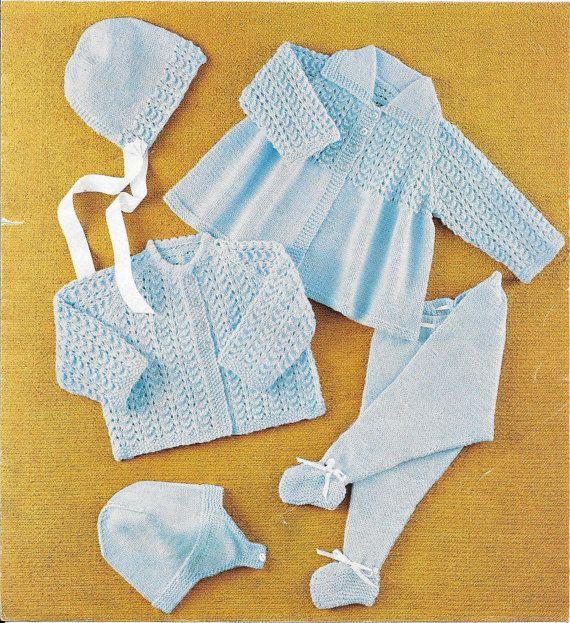 f9948cd33 multiple colors d6455 b6e0a vintage baby pram suit knitting pattern ...