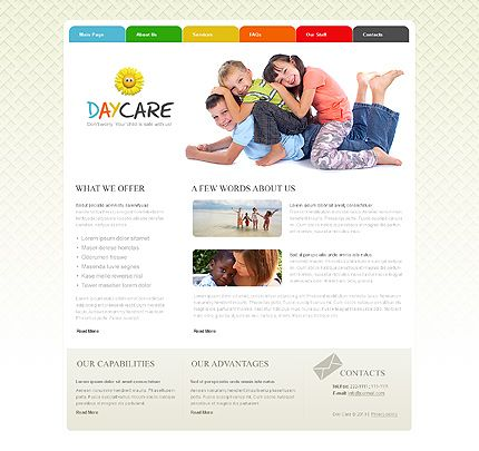 10+ Day Care Website Templates | Website, Template and Typing website