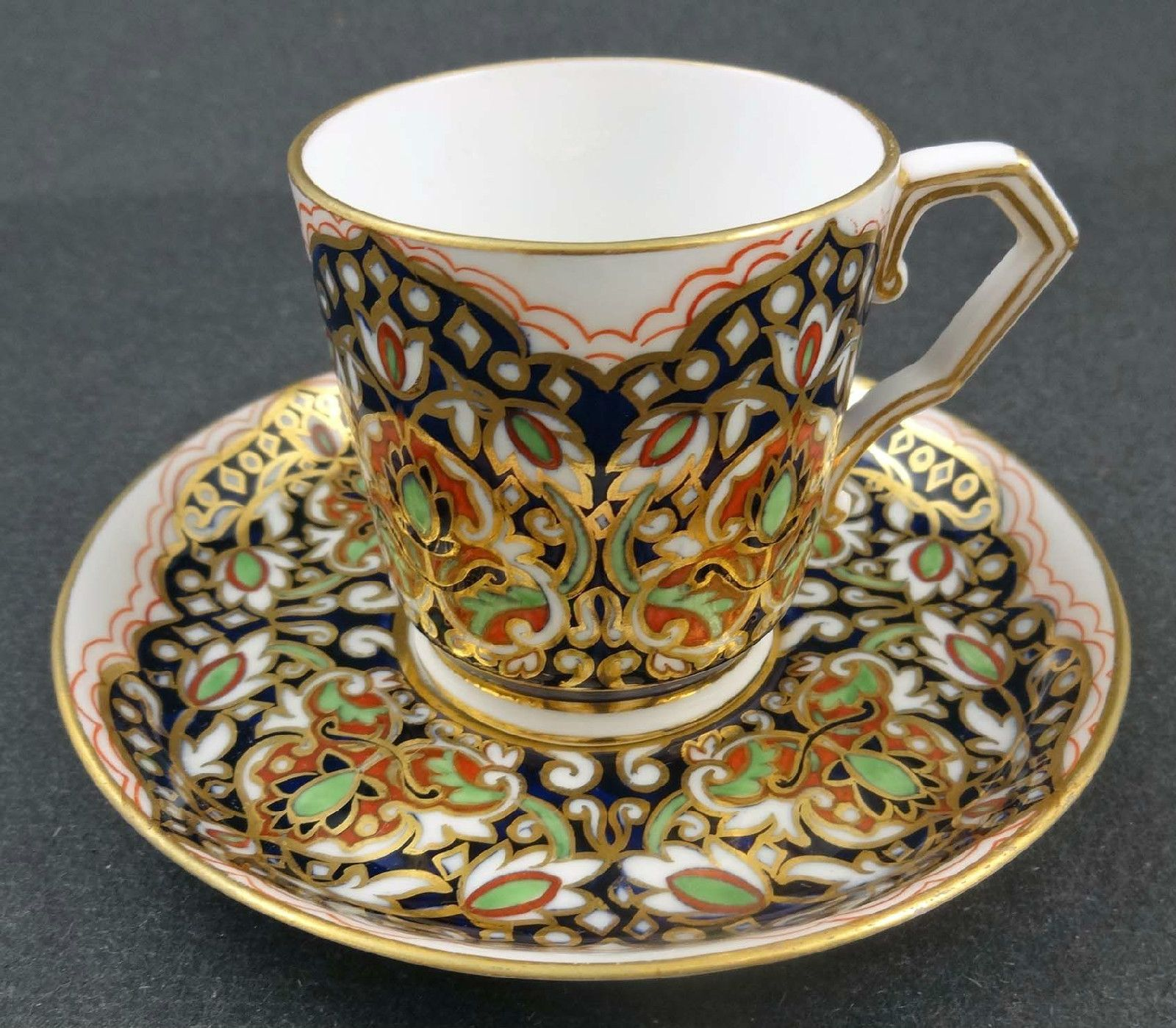 Fine antique royal crown derby persian style demitasse cup saucer fine antique royal crown derby persian style demitasse cup saucer reviewsmspy