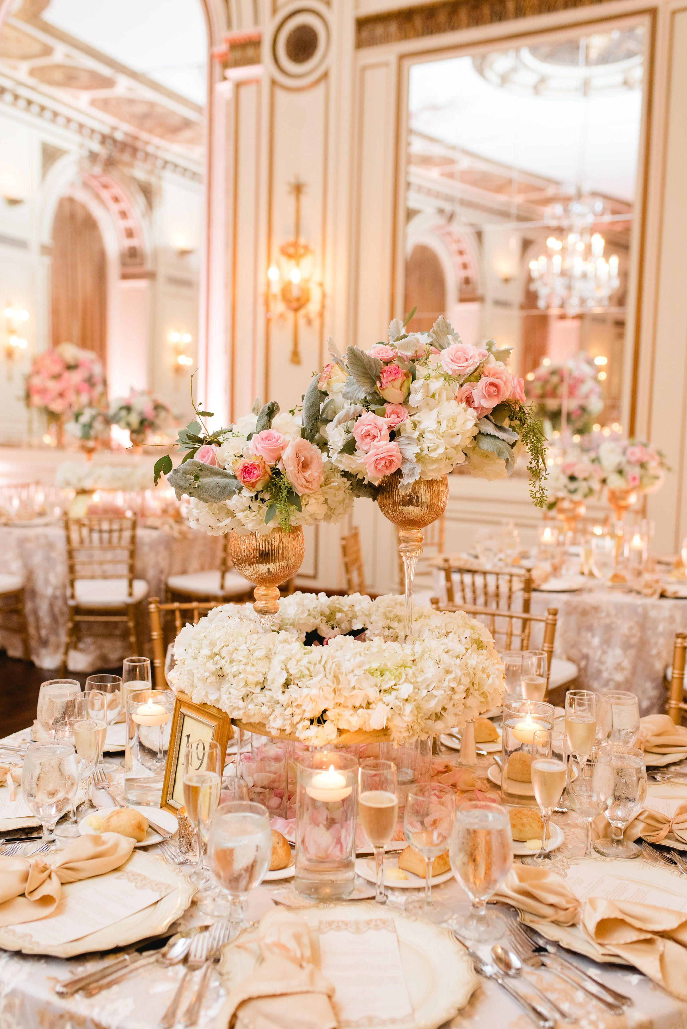 You Simply Cannot Get Anymore Glam Than This Gold Ballroom Wedding Coral Wedding Decorations Gold Wedding Colors Gold Wedding Reception