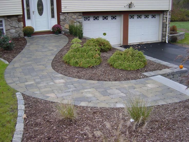 Curved Paver Walkway Walkways 28 Nice Curve In Front Of Raised Ranch Front Walkway Landscaping Walkway Landscaping Front Sidewalk Ideas