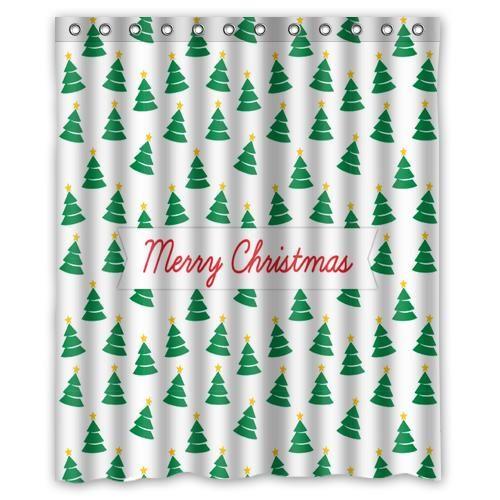 Новый год новогоднее украшение присутствует идеальный рождественский подарок заказ занавески для душа уолл ванной декора различных размеров бесплатная доставка купить на AliExpress