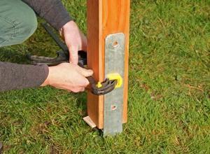 Anleitung HPfostenanker für Holzpfosten einbetonieren