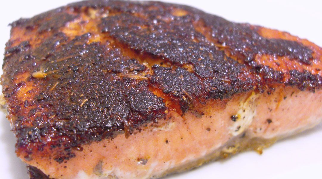 Blackened Salmon, A Tender, Perfectly Seasoned Fish
