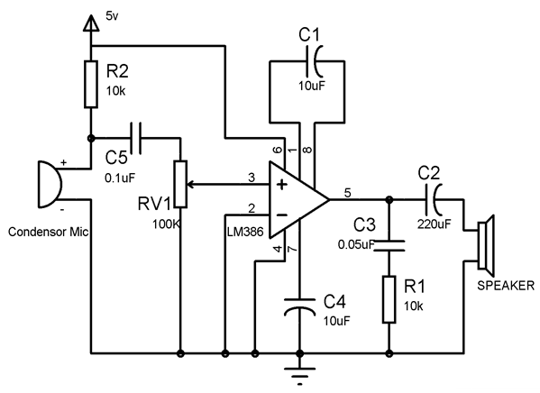 Lm386 Audio Amplifier Circuit Diagram Pdf