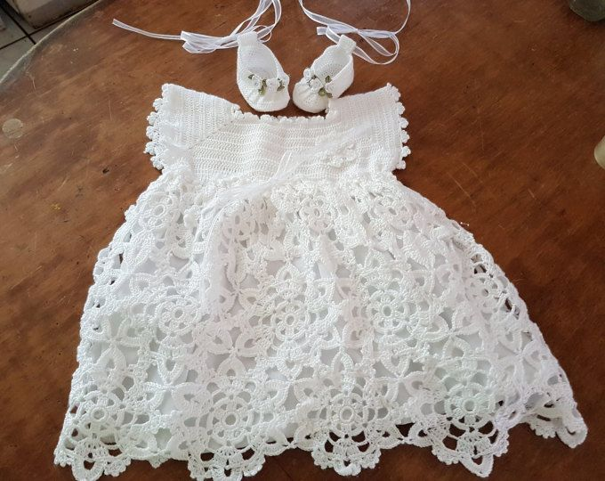 Vestido para bautizo a crochet   Ganchillo   Pinterest   Vestidos ...