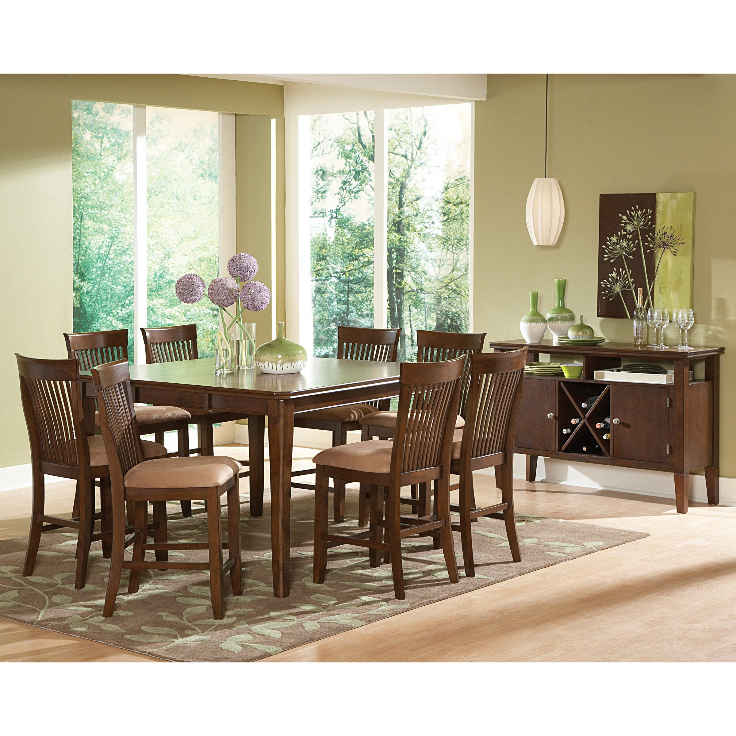 Steve Silver Montreal 9 Piece Counter Height Dining Set