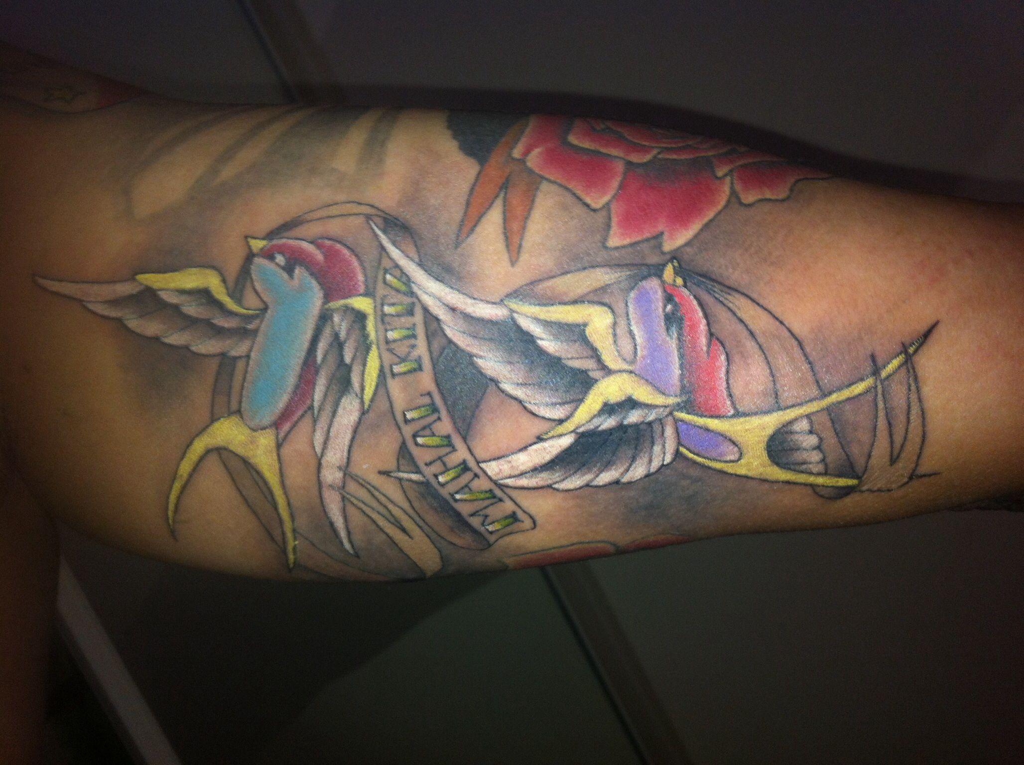 Swallows Tattoo Mahal Kita I Love You Filipino Tattoo Ideas  # Muebles Tagalog