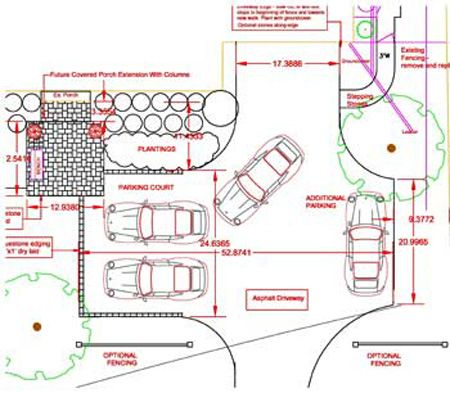 Driveway dimensions for your project driveways google for Garage size for full size truck