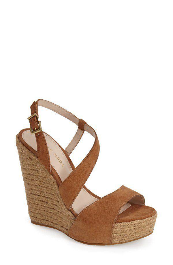 Pin for Later: Shop 23 Versions of Summer's Most Versatile Shoe Pelle Moda Espadrille Wedge Sandal Pelle Moda 'Olesa' Espadrille Wedge Sandal ($165)