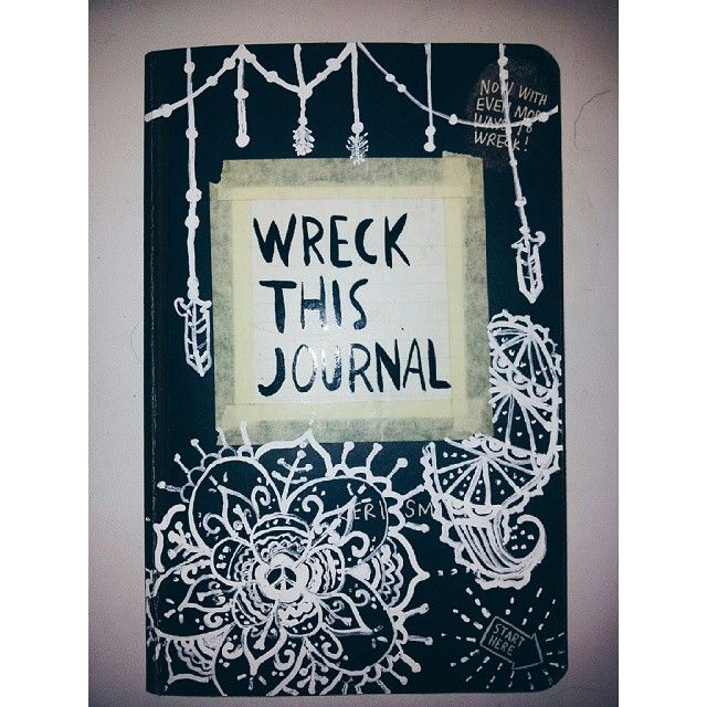 My Wreck This Journal cover Credit : @HannahHoots