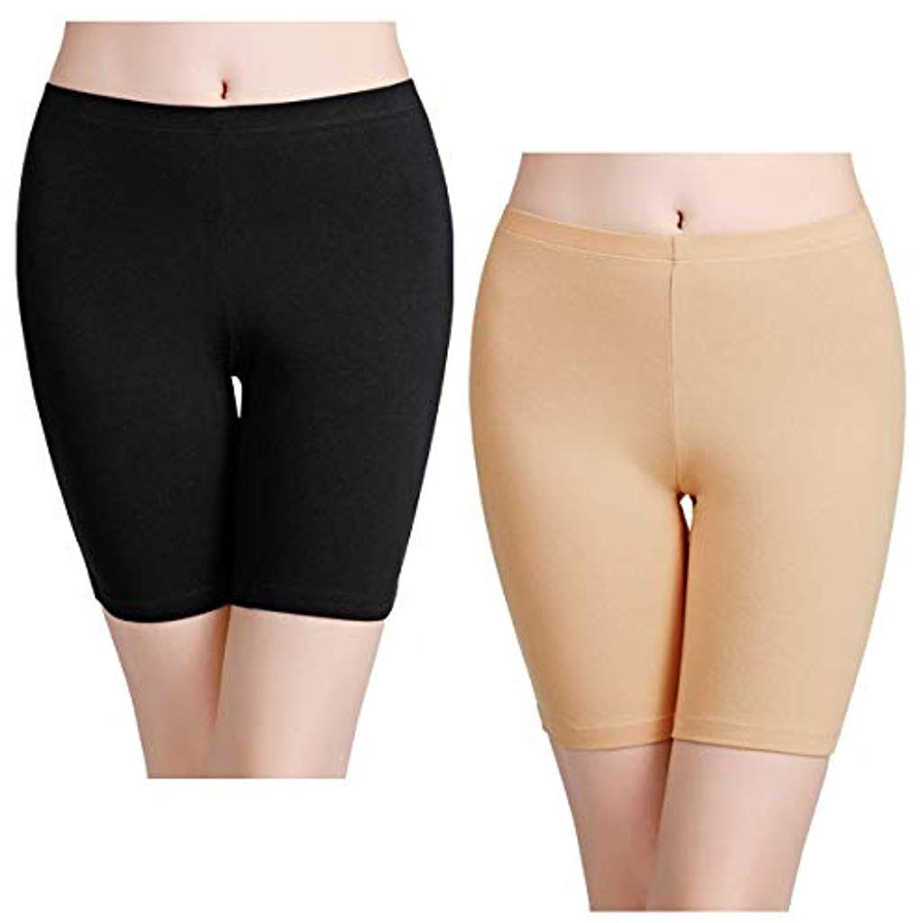 Womens Basic Long Brief Anti Chafing Cotton Shorts Long Leg Knickers Ladies Soft Boxer Shorts Underwear