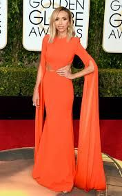 Resultado de imagem para orange dress red carpet