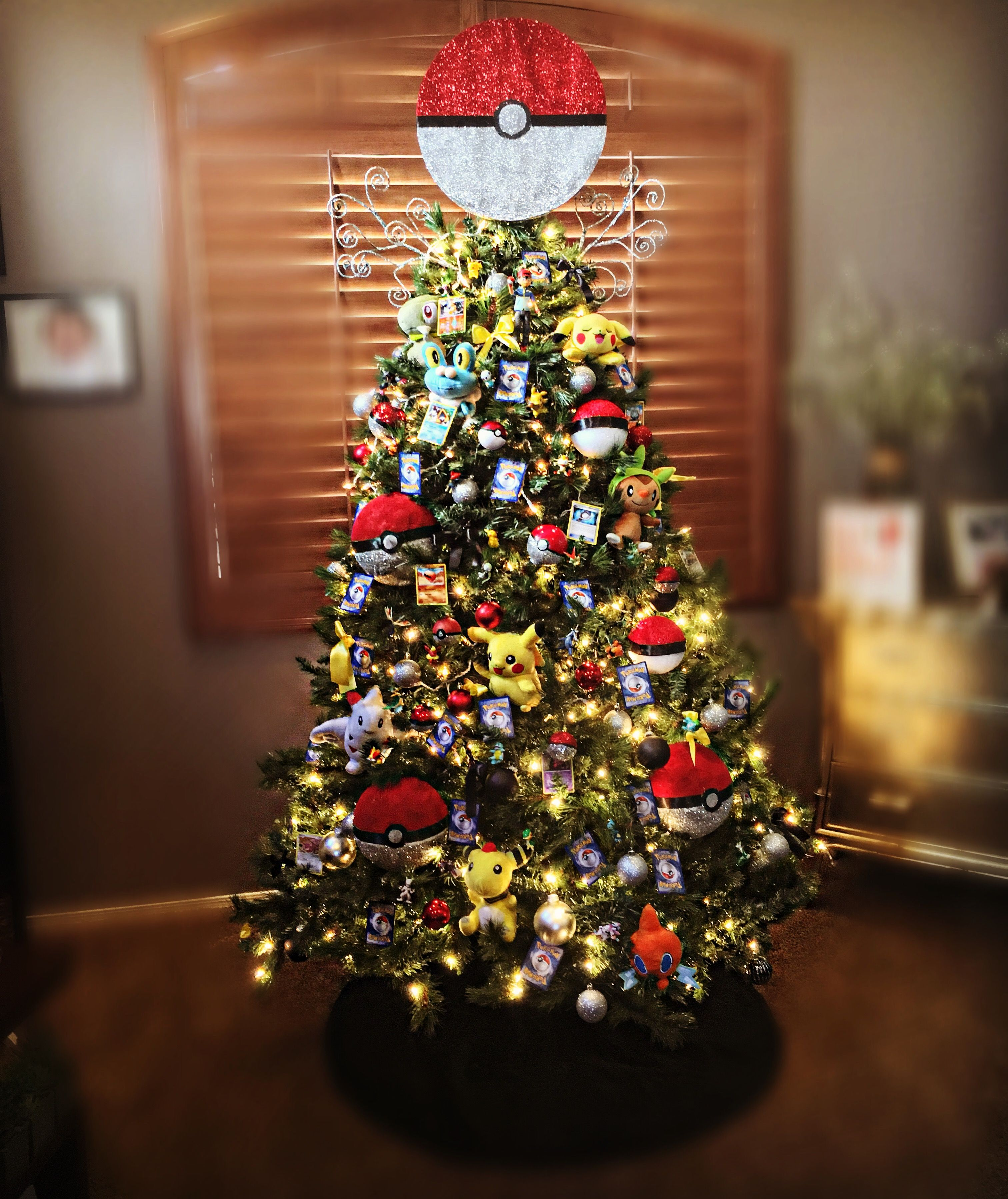 Pokemon Themed Christmas Tree