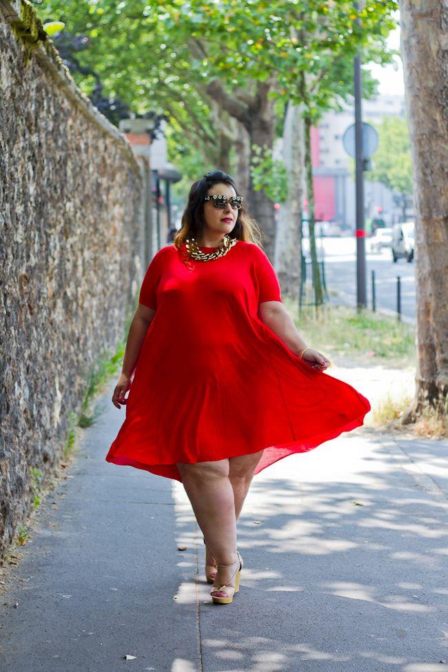 Beauty and fashion plus dresses