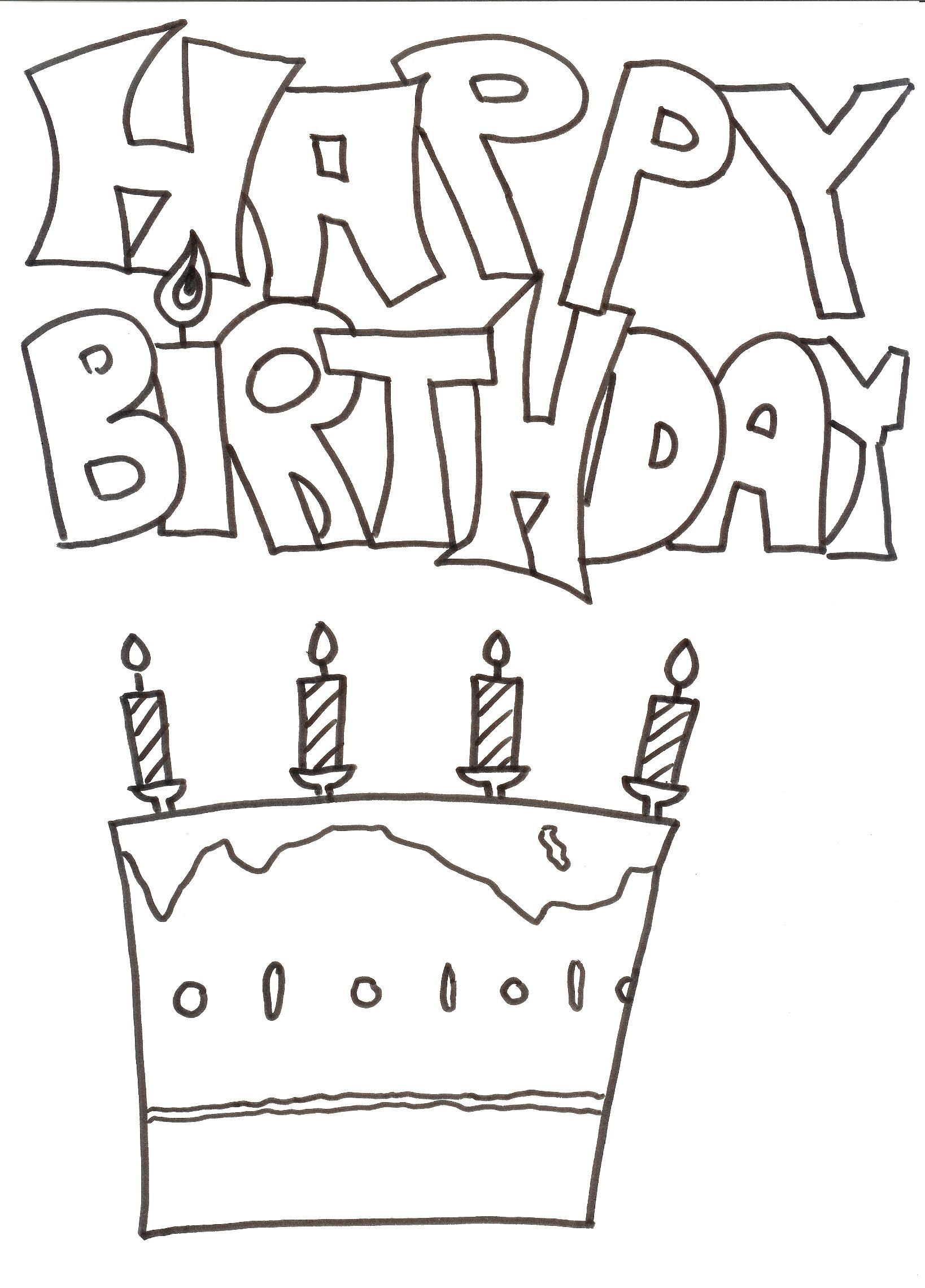 Neu Ausmalbilder Happy Birthday Malvorlagen Malvorlagenfurkinder Malvorlagenfurerwachse Happy Birthday Coloring Pages Birthday Coloring Pages Coloring Pages