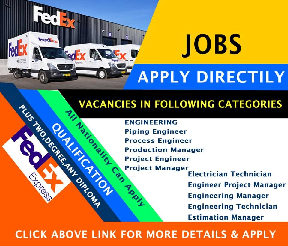 Fedex Jobs Fair ➡️fedex Express Jobs  ➡️various Sector Jobs Available ➡️click .