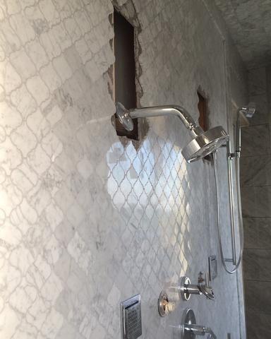 Pin By Lisa Ash On Bathroom Bliss Tile Shower Niche Tile Backsplash Bathroom Tile Bathroom
