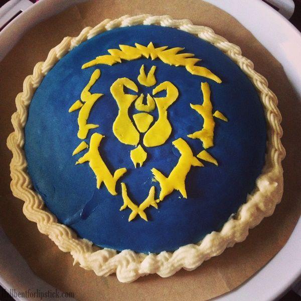 World of Warcraft Alliance Birthday cake | Ken | Cake, Birthday cake ...