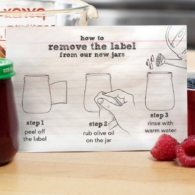 How To Remove Labels From Glass It Works Baby Food Jar Crafts Baby Food Jars Baby Jars
