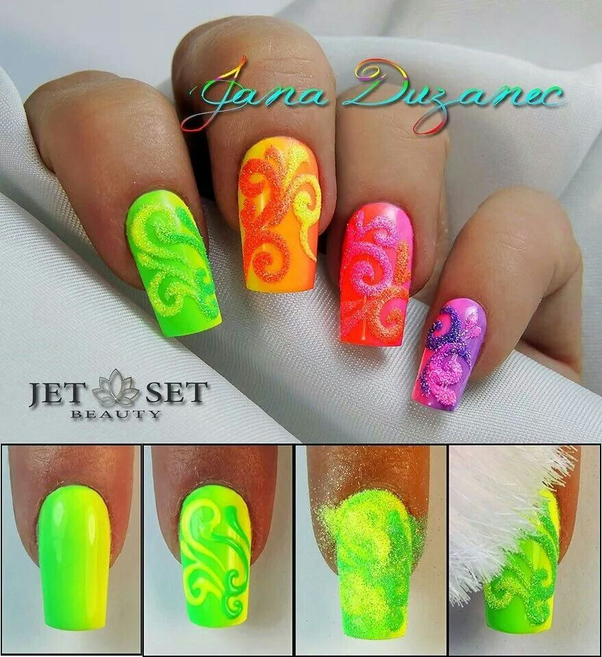 Jet Set Beauty With Images Neon Nails Neon Nail Art Nail Art